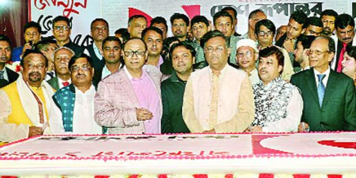 Shafiat Sobhan Sanvir was present at the first anniversary programme of the daily Desh Rupantor